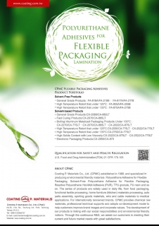 Polyurethane Adhesives for Flexible Packaging